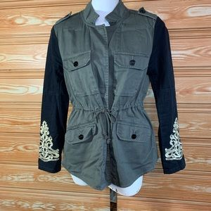 Sanctuary Military Olive Green Button Up Jacket